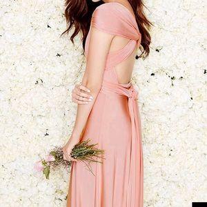 Lulus Convertible Dress Blush Pink Sz L